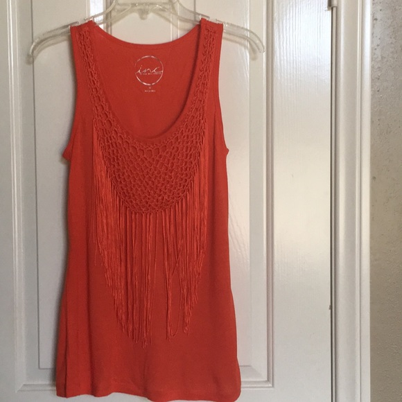 INC International Concepts Tops - INC coral tank top with fringes